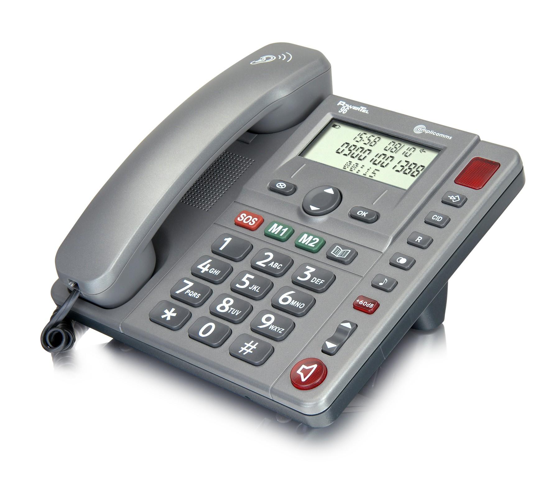 Teléfono fijo Powertel 96 amplificador extra